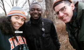 Lisa, Fidel, and Tim take a selfie break at Lake Carl Blackwell.