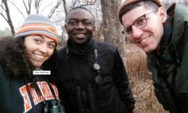 Lisa, Fidel, and Tim take a selfie break at Lake Carl Blackwell.