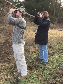 John McQuaig and Damona Doye spot something exciting! Photo by Elaine Stebler