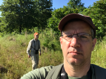 Tim needs more in the field selfies with Les to help document our many adventures.